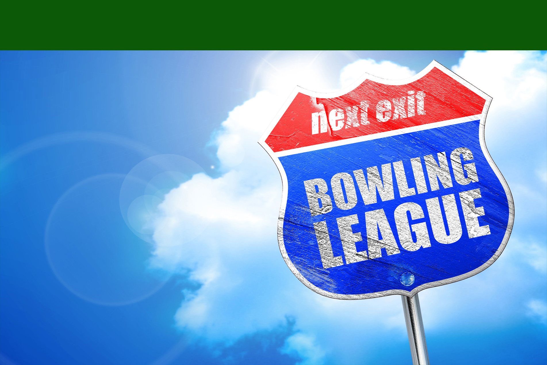 Street sign that says Bowling League